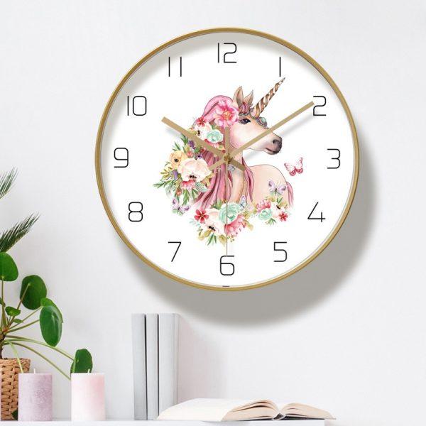 Quartz Unicorn Wall Clock