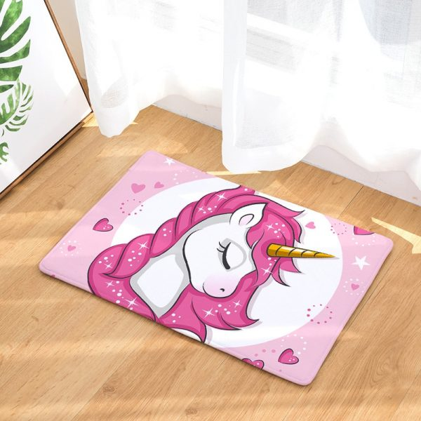 Rainbow Unicorn Door Mat