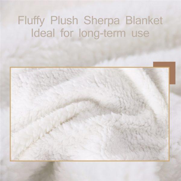 Ice Cream Unicorn Throw Fleece Blanket