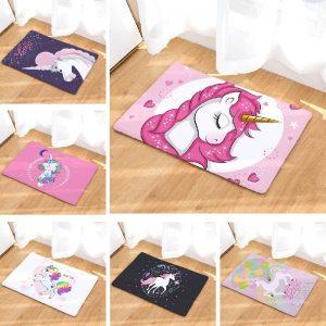 Rainbow Unicorn Door Mat