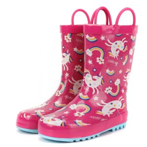 Unicorn Rainbow Pattern Rain Boots