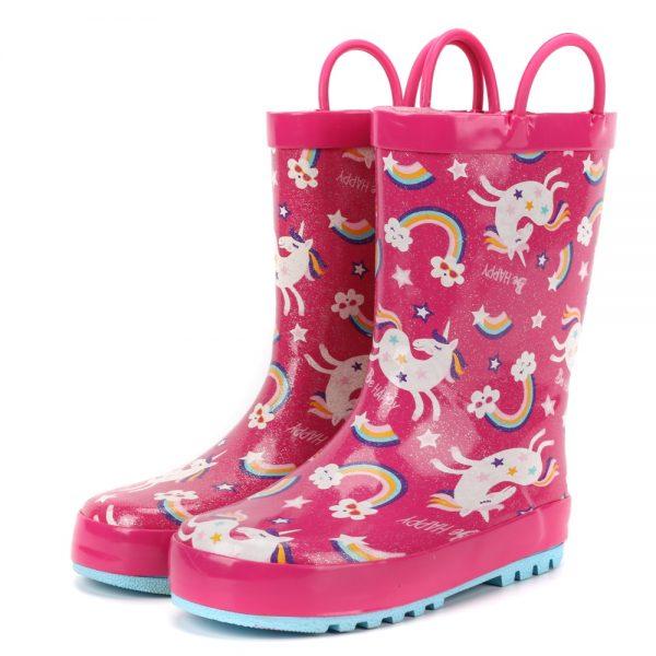 Unicorn Rainbow Pattern Rain Boots