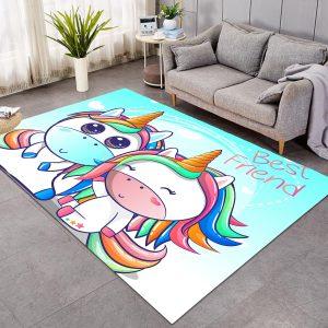 Best Friend Unicorn Large Carpet