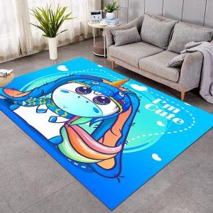 Adorable Unicorn Large Carpet