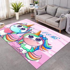 Cute Girls Unicorn Large Carpet