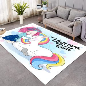 Unicorn Are Real Rug For Girl Bedroom