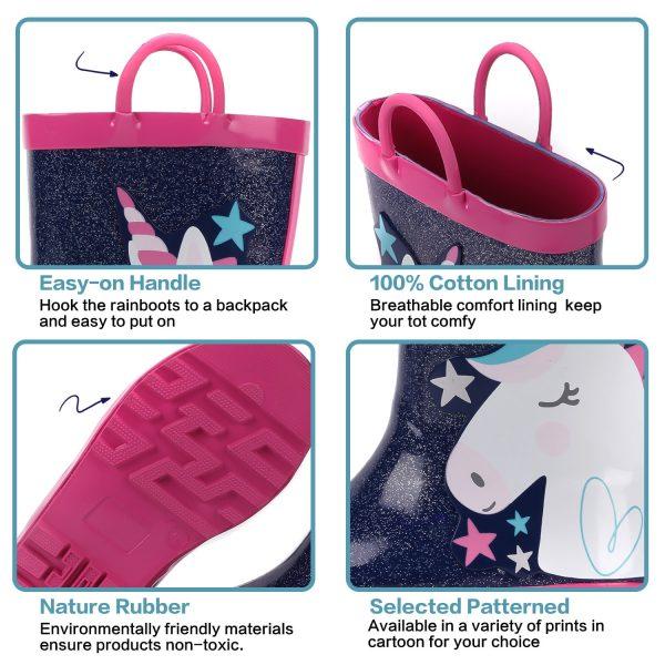 Unicorn Starry Rain Boots