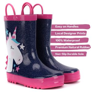 Unicorn Starry Rain Boots