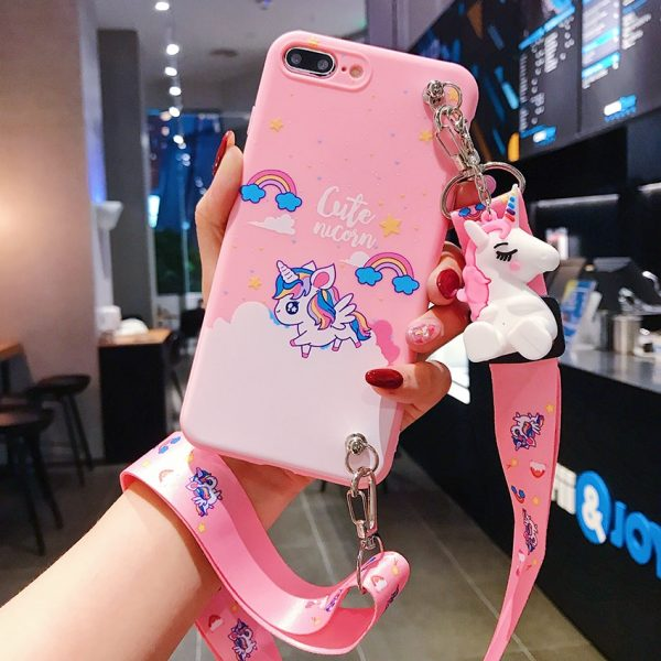 Unicorn Phone Case With Strap Rope