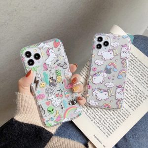 Unicorn And Flamingo Phone Case