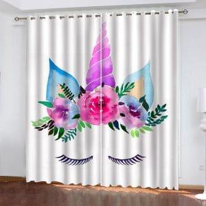 Unicorn Eyelashes Curtain