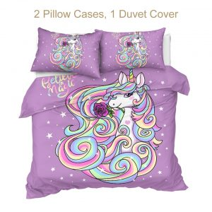 Unicorn Girly Bedding Set For Girls