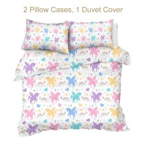 Pastel Rainbow Unicorn Bedding Sets