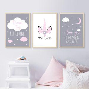 Beautiful Unicorn Wall Art Poster Decoration