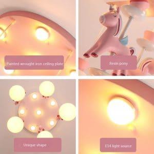 Modern Unicorn Ceiling Light