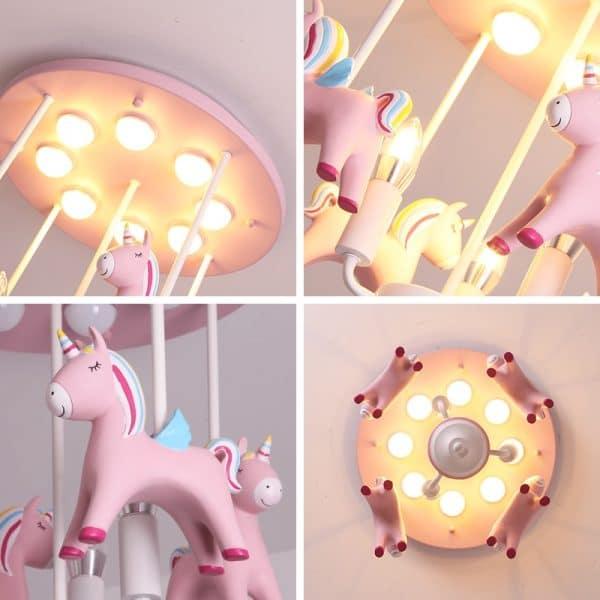 Unicorn Ceiling Light For Girl Room