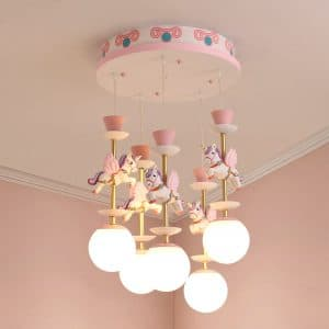 Unicorn Pendent Light For Girl Princess Bedroom