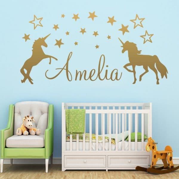 Personalised Unicorn Wall Stickers