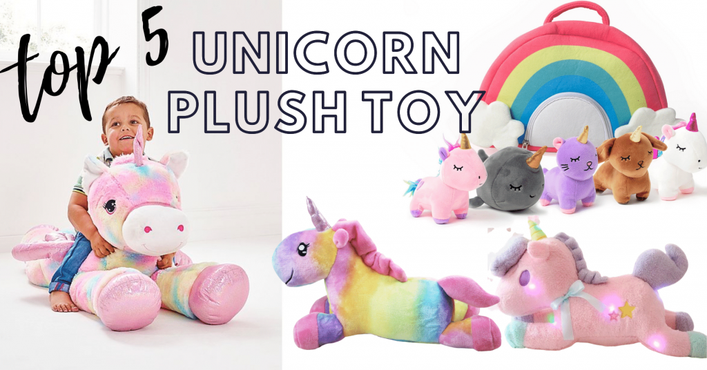 15+ Unicorn plush toys to keep your children entertained!