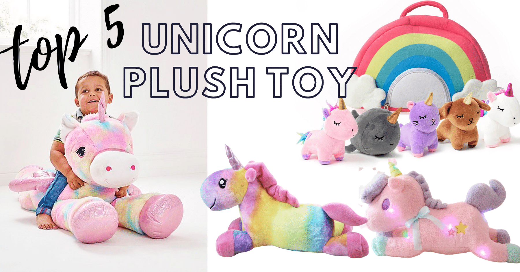 15+ Unicorn plush toys to keep your children entertained!