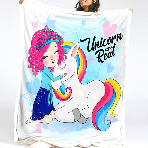 Unicorn Are Real Fluffy Fleece Blanket
