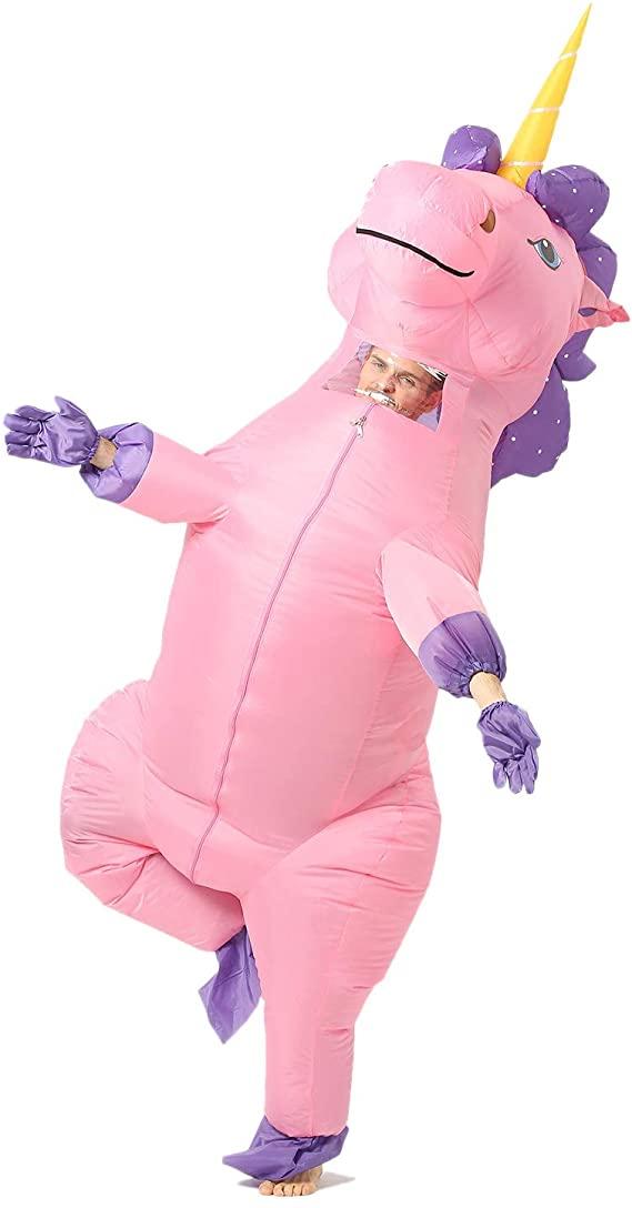Purple Inflatable Unicorn Costume