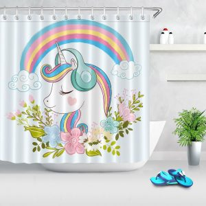 Awesome Trendy Unicorn Shower Curtains
