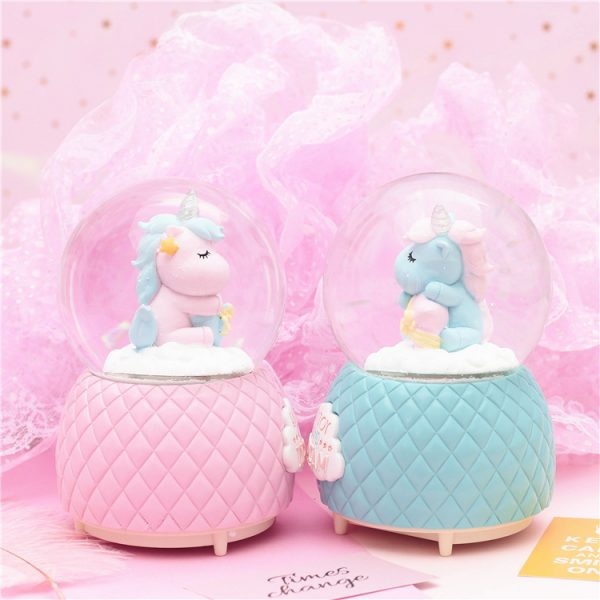 Crystal Unicorn Snow Globes