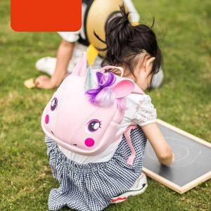3D Cartoon Super Cute Unicorn School Bag