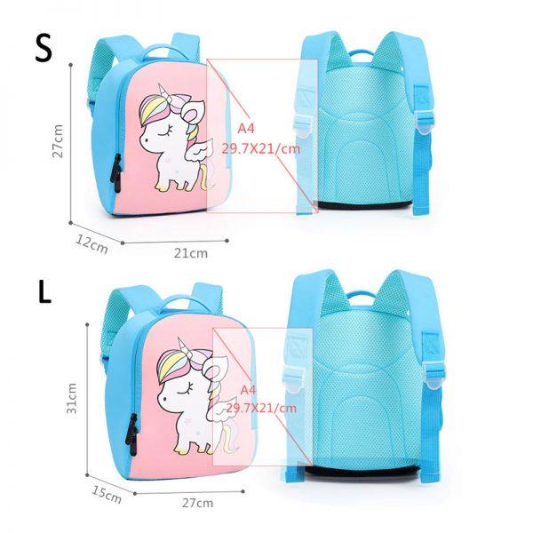 3D Cartoon Waterproof Neoprene School Bag
