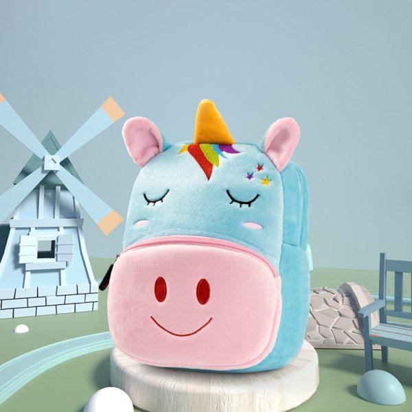 3D Cartoon Animals Plush School Bags For Girls
