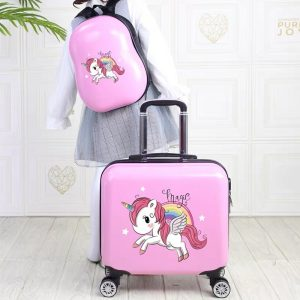 Unicorn Travel Suitcase For Kids