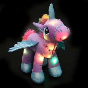 Glowing LED Night Light Unicorn Stuffed Animal Toy