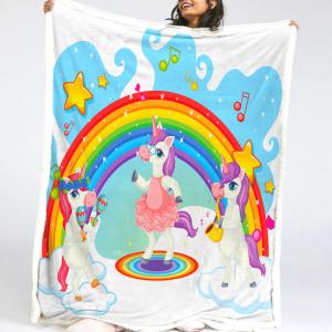 Rainbow unicorn blanket