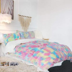 Rainbow Fluffy Bedding Set