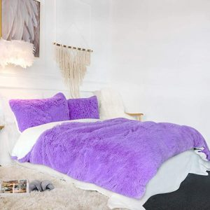 Purple Fluffy Bedding Set