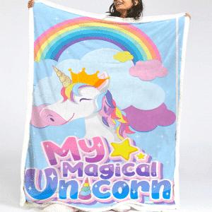 Magical Unicorn Fleece Blanket
