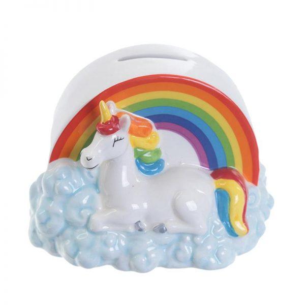 Rainbow Unicorn Piggy Bank