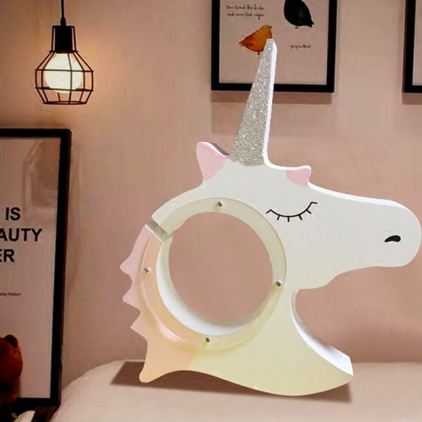 Unicorn Wooden Piggy Bank