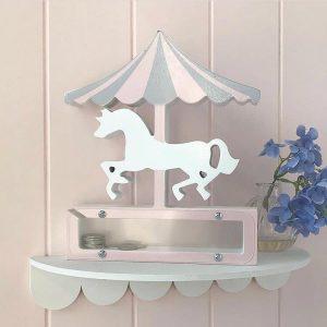Wooden Transparent Unicorn Piggy Bank