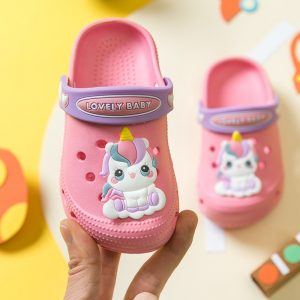 Kids Girls Non Slip Unicorn Crocs