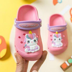 Kids Girls Non Slip Unicorn Crocs