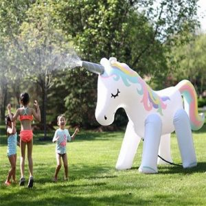 Giant Inflatable Unicorn Sprinkler For Summer