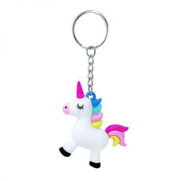 Rainbow Unicorn Keychain