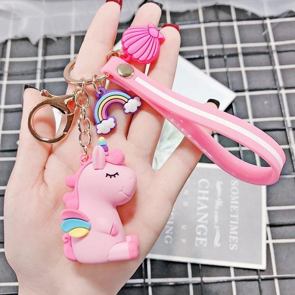Cute Pony Unicorn Rainbow Keychain