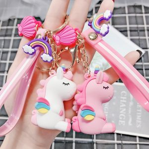 Cute Pony Unicorn Rainbow Keychain