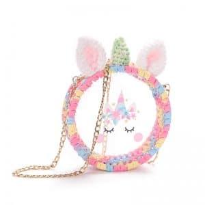 2020 Unicorn Summer Hand-Knitting Transparent Bag