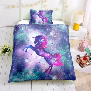 Twin Galaxy Unicorn Bedding Set, Unicorn Bed Set, Unicorn Bed In A Bag