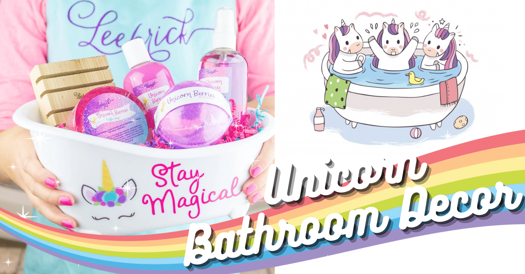 20+ Essential Items For Decorating Magical Unicorn Bathroom
