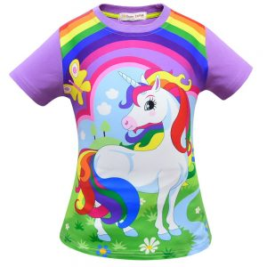 Unicorn Colorful Rainbow Summer T-shirt